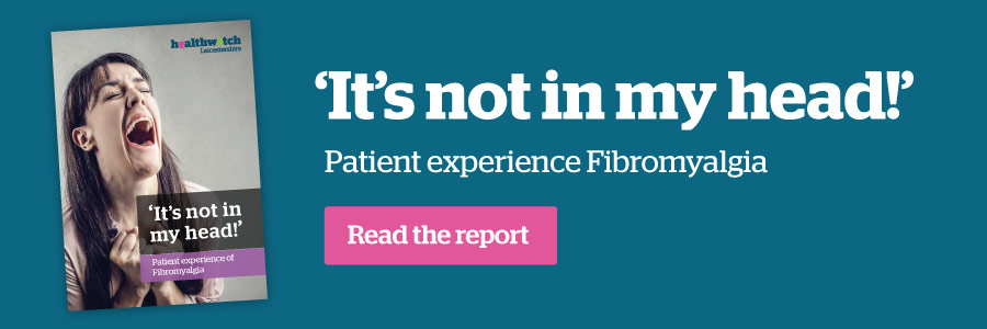 It's not in my head! Patient experience Fibromyaliga